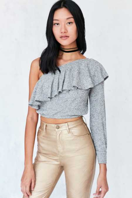 Silence + Noise Ashling Ruffle One Shoulder Top