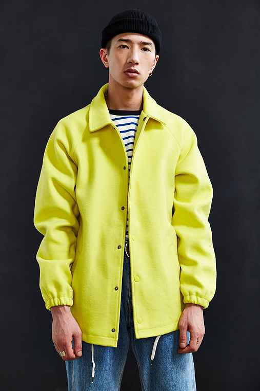 UO Wool Coach Jacket,BRIGHT YELLOW,S
