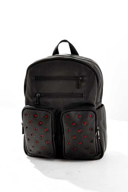 Leather Grommet Backpack