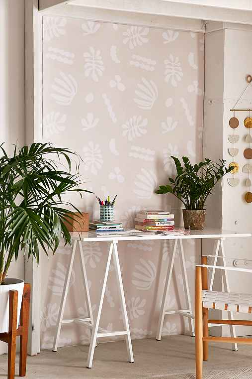Chasing Paper And Kate Zaremba Flora Removable Wallpaper,PEACH,ONE SIZE