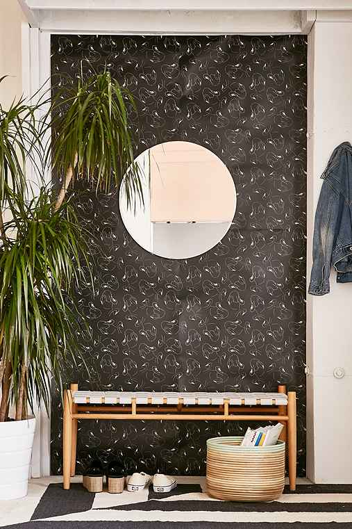 Chasing Paper And Kate Zaremba Swansy Removable Wallpaper,BLACK,ONE SIZE
