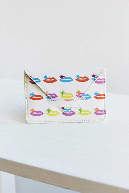Psychedelic Icon Print Cardholder