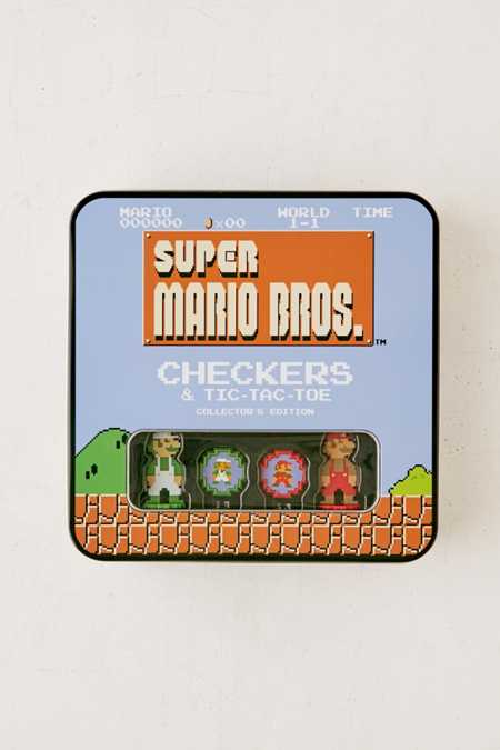 Super Mario Bros. Checker + Tic-Tac-Toe Collector's Edition Game