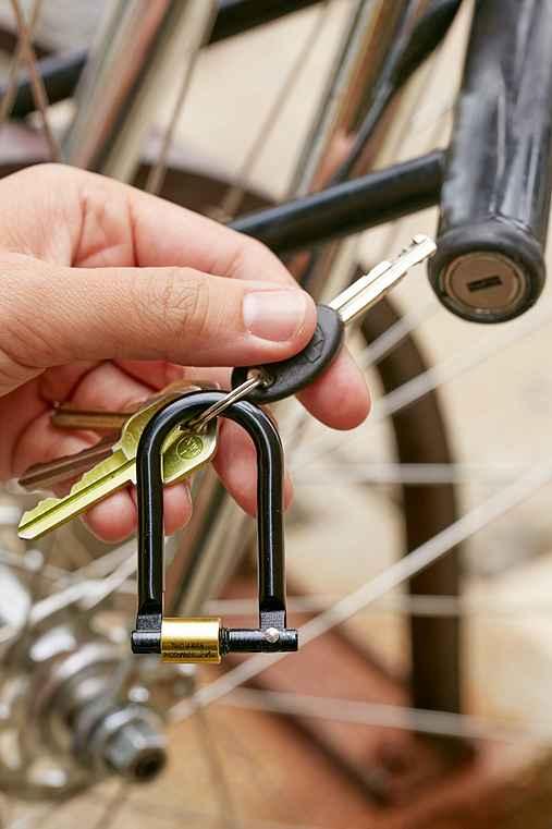 Gamago U-Lock Keyring,BLACK,ONE SIZE