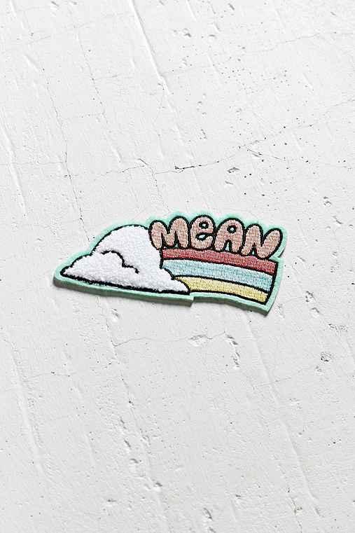 Tuesday Bassen Mean Rainbow Sticker Patch,MINT,ONE SIZE