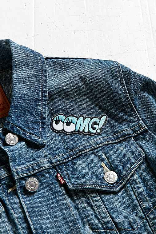 Tuesday Bassen OOMG! Sticker Patch,BLUE,ONE SIZE
