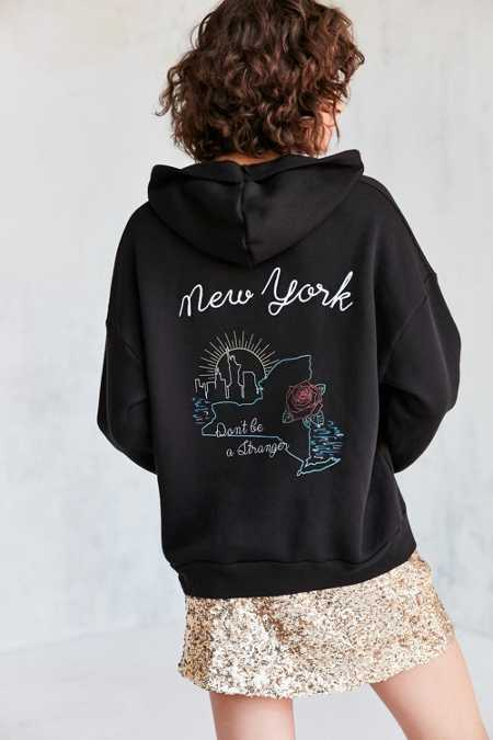 Project Social T Embroidered Souvenir Hoodie Sweatshirt