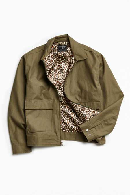 UO Leopard Lined Gas Jacket