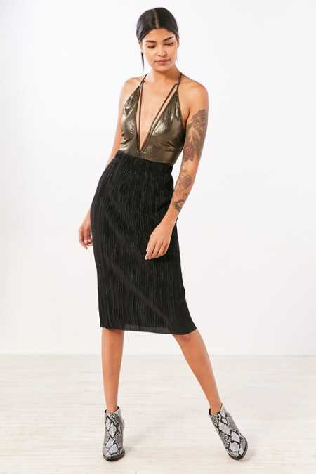 Cooperative Accordion Pleat Midi Skirt