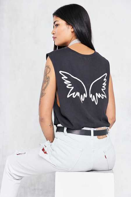 Truly Madly Deeply Angel Wing Muscle Tee