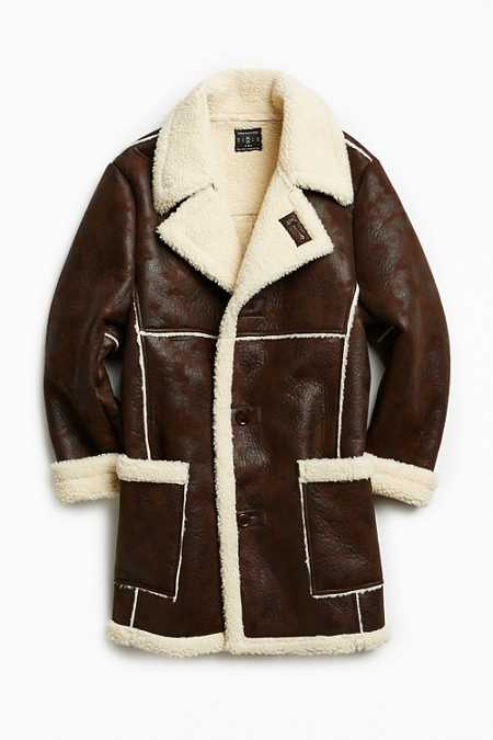 UO Faux Shearling Barn Coat