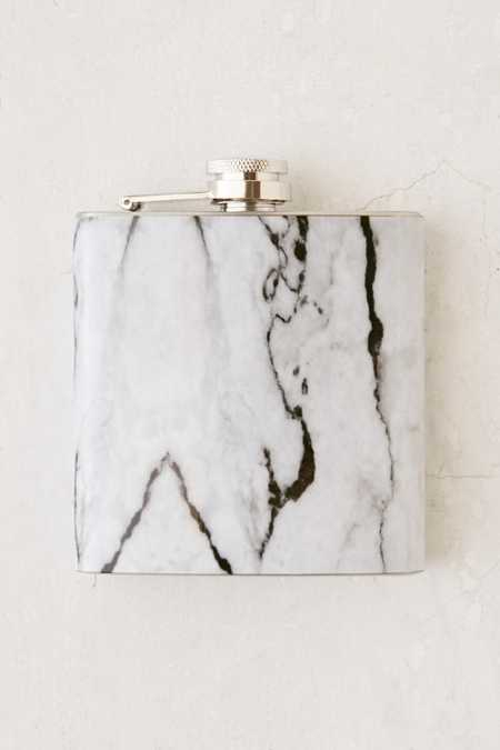 6 Oz Marbled Flask