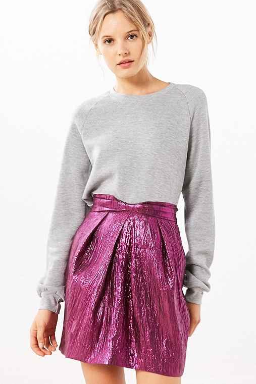 Silence + Noise Purple Rain Mini Skirt,PURPLE,S