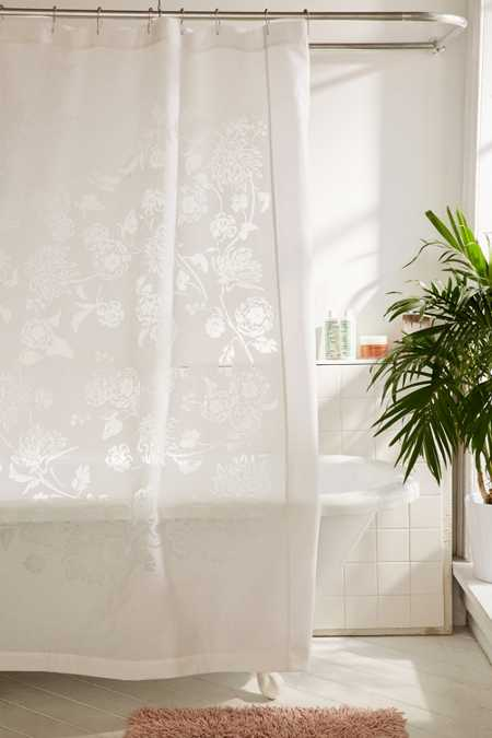 Shiro Floral Cutout Shower Curtain