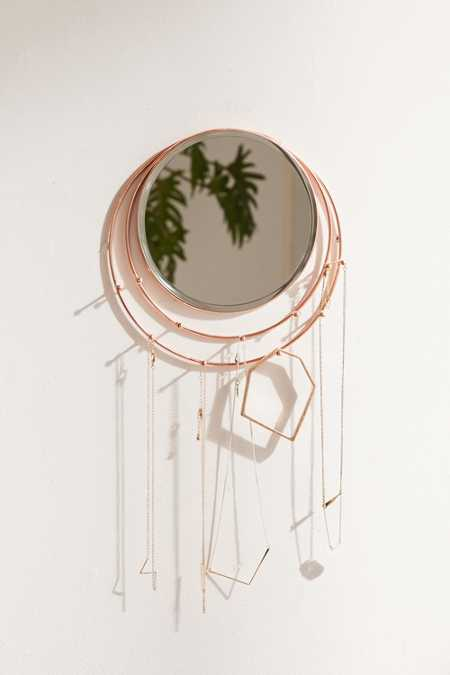 Wall-Mounted Lapsis Mirror + Jewelry Storage