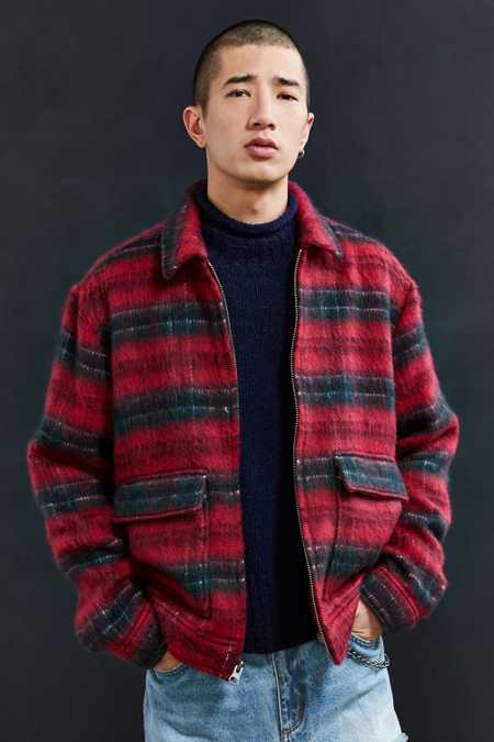 UO Hairy Plaid Gas Jacket