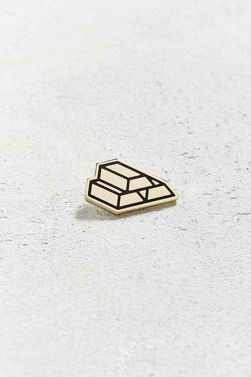 Mean Folk Gold Bricks Pin,GOLD,ONE SIZE