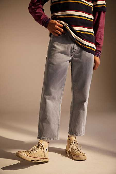 BDG Grey Straight Cropped Jean