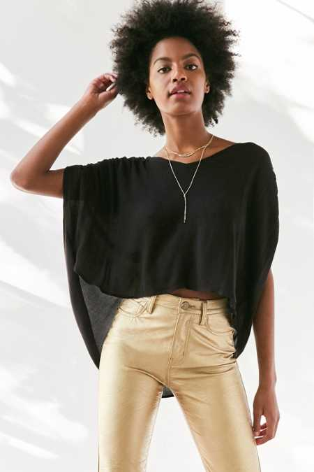 Silence + Noise Exton Cape-Sleeve Popover Top