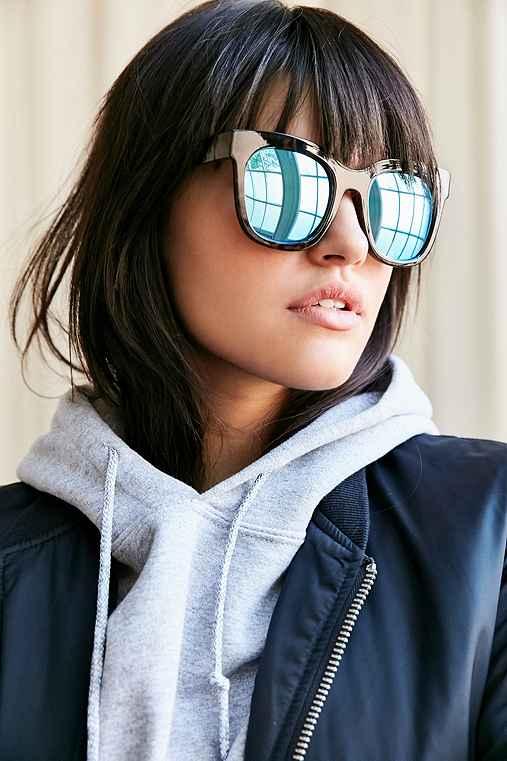 Quay Sagano Square Sunglasses,BROWN,ONE SIZE