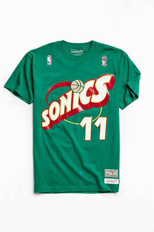 Mitchell & Ness Seattle SuperSonics Detlef Schrempf Tee,GREEN,S