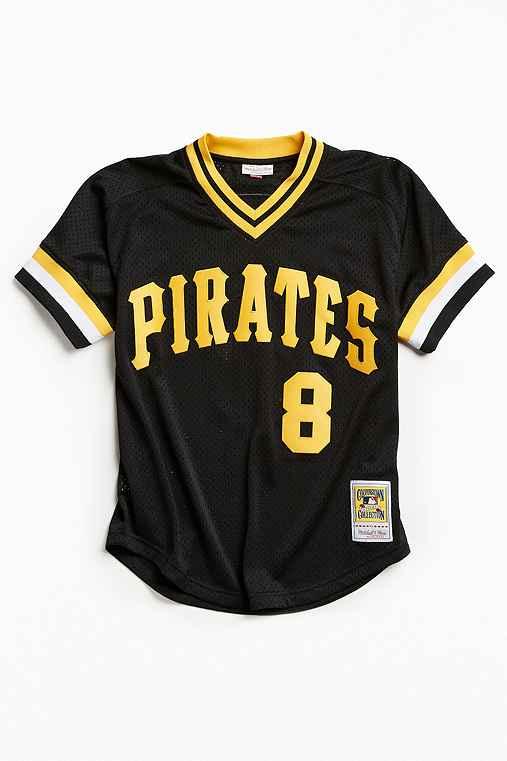 Mitchell & Ness Pittsburgh Pirates Jersey,BLACK,S