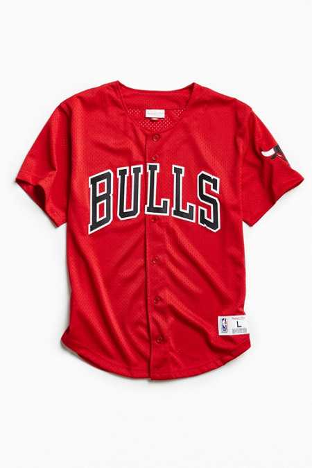 Mitchell & Ness Chicago Bulls Button Front Jersey