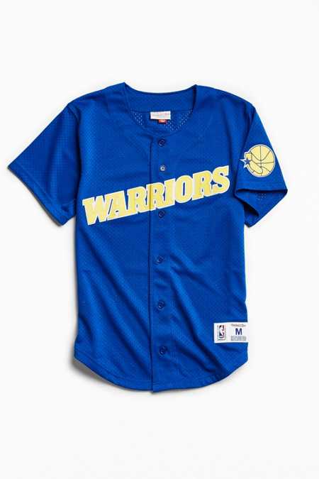 Mitchell & Ness Golden State Warriors Button Front Jersey