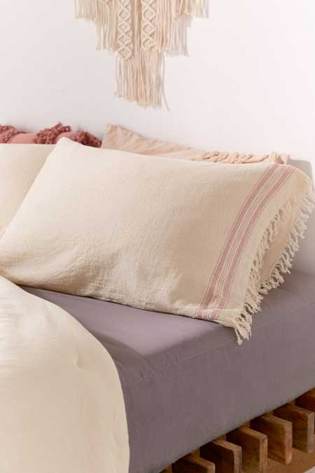 Myra Raw Edge Pillowcase Set