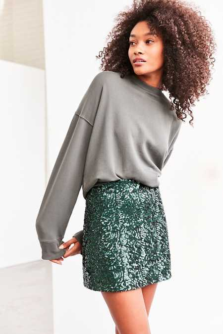 Cooperative Cassie Sequin Mini Skirt
