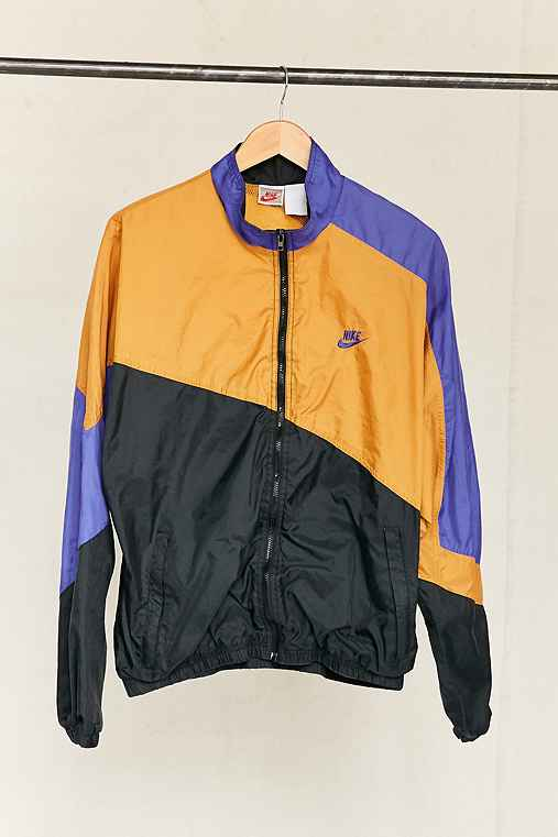 Vintage Nike Purple/Mustard Windbreaker Jacket,ASSORTED,ONE SIZE
