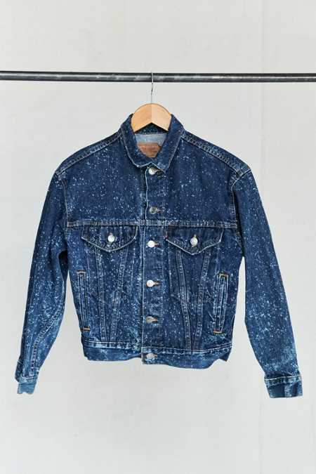 Vintage Levi's Bleach Speckled Denim Jacket