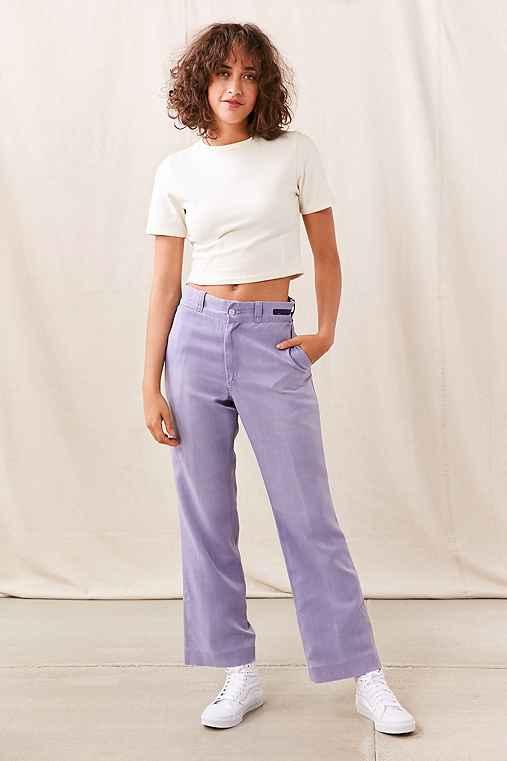 Vintage Overdyed Work Trouser Pant,PURPLE,M