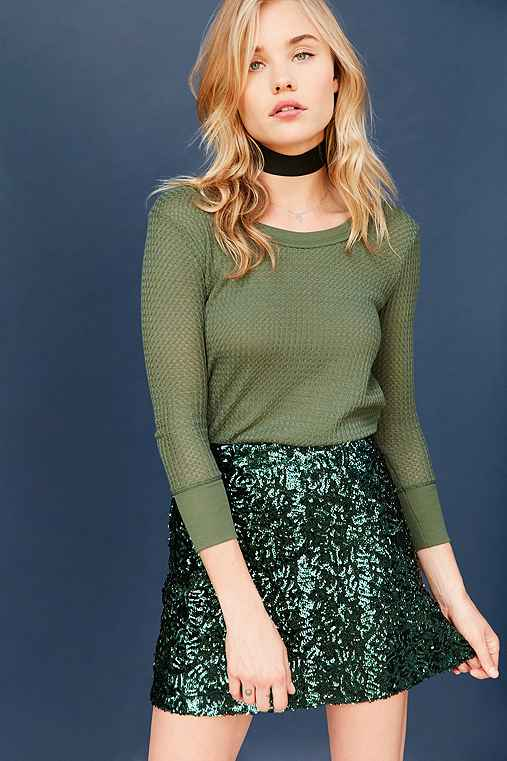 Project Social T Ivy Thermal Tee,GREEN,L