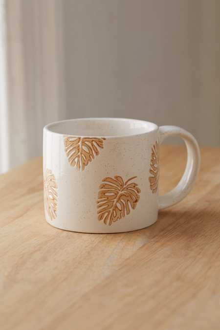 Ceramic Wax Resist Design Mug