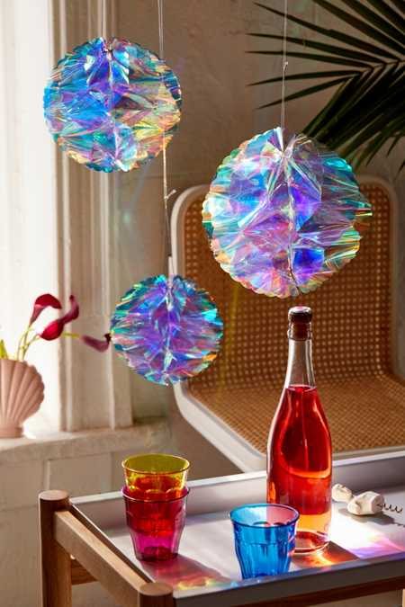 Iridescent Honeycomb Decor Set