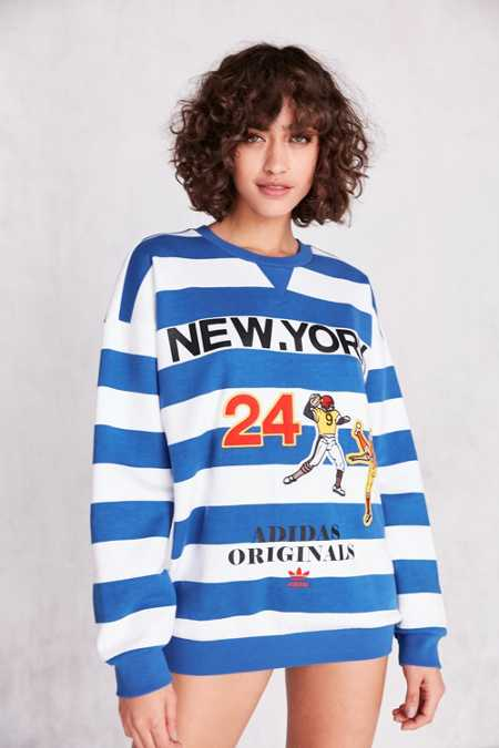 adidas Originals + UO New York Striped Pullover Sweatshirt