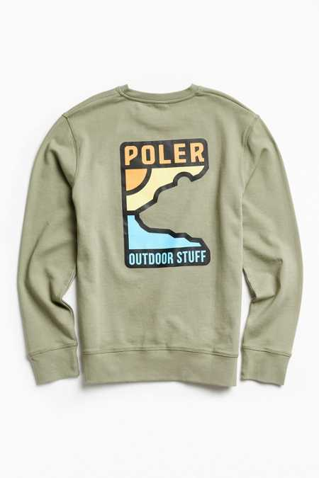Poler Geo Bear Crew Neck Sweatshirt