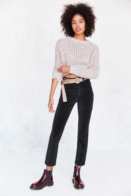 BDG Girlfriend Velvet High-Rise Pant