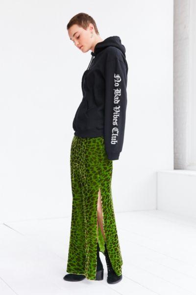 Silence + Noise Jackie Velvet Leopard Maxi Skirt