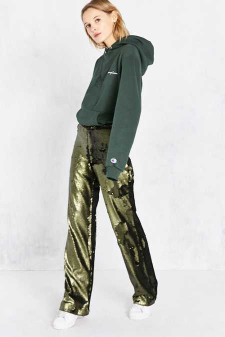 Silence + Noise Nora High-Rise Sequin Trouser Pant
