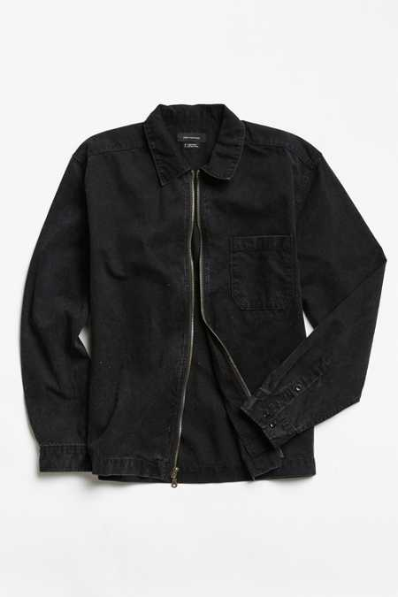 UO Denim Zip-Up Shirt
