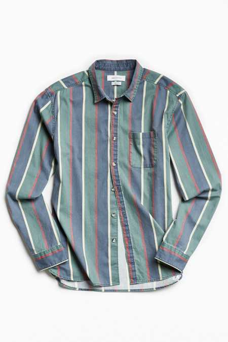 UO '90s Stripe Button-Down Shirt