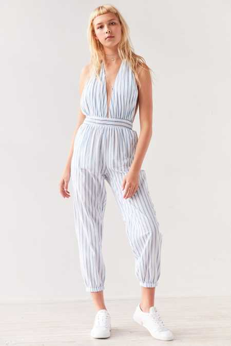 Faithfull The Brand Barbuda Halter Jumpsuit