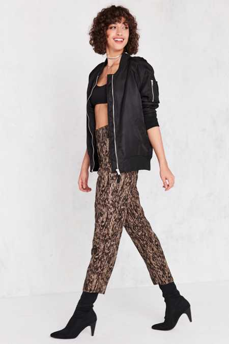 Silence + Noise Bridgitte Leopard Pull-On Pant