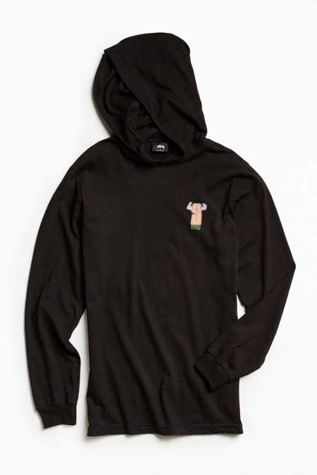 Stussy S-Horns Hooded Long Sleeve Tee