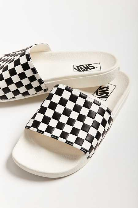 Vans X UO Checkerboard Pool Slide