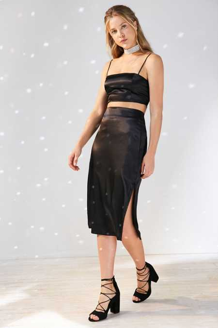 Capulet Gia Satin Bodycon Midi Skirt