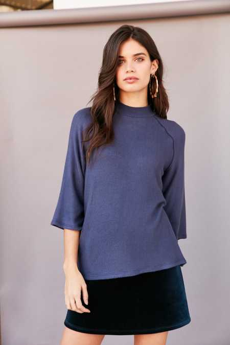 Project Social T In The Clouds Cozy Mock-Neck Top
