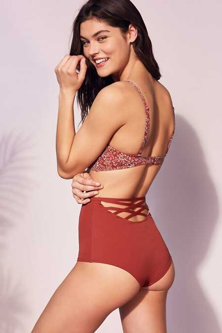 Out From Under Strappy Back High-Waisted Bikini Bottom
